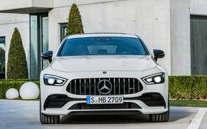 Картинка Mercedes-Benz, AMG, 2018, 4MATIC, 4 Door Coupe, Mercedes-Benz AMG GT