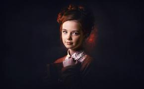 Картинка взгляд, свет, портрет, девочка