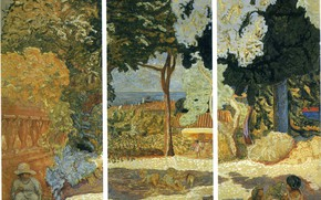 Картинка 1911, Средиземное море, Наби интимизм, Pierre Bonnard, Панно из трех частей