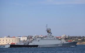 Картинка корабль, ракетный, малый, Черное море, Севастополь, Зеленый Дол