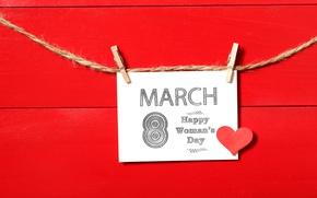 Картинка сердечки, red, happy, 8 марта, heart, romantic, gift, Women's Day