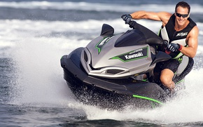 Картинка волны, Kawasaki, гидроцикл