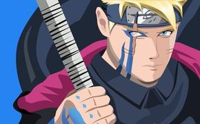 Картинка red, sword, Naruto, seal, anime, katana, fight, ken, blade, ninja, asian, manga, shinobi, japanese, oriental, …