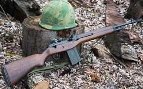 Картинка Полуавтоматическая винтовка, Armory M1A, каска, Springfield