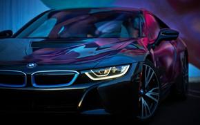 Картинка машина, цвета, вид, BMW i8