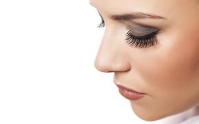 Картинка pretty, female, eyelashes, makeup