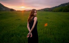 Картинка солнце, утро, платье, губки, прелесть