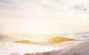 Картинка landscape, sunset, snow, sun, freeze, snowland, beautifful landscape