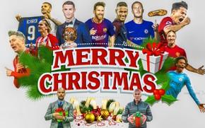 Картинка коллаж, футбол, спорт, Рождество
