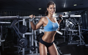 Обои smile, look, workout, gym, fitness