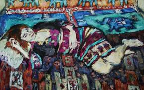 Картинка слоны, 2011, орнаменты, Пётр Петяев, женщина отдыхает