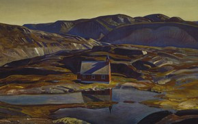 Картинка пейзаж, картина, Rockwell Kent, Рокуэлл Кент, Лето. Гренландия