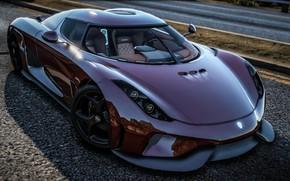 Картинка дорога, суперкар, Grand Theft Auto V, Koenigsegg Regera