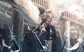 Картинка девушка, ангел, аниме