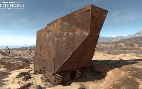 Картинка машина, горы, пустыня, Star Wars Battlefront