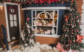 Картинка праздник, игрушки, елка, новый год, декор