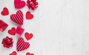 Картинка праздник, Love, подарки, сердечки, red, box, hearts, декор, valentine's day, celebration, holiday, presents