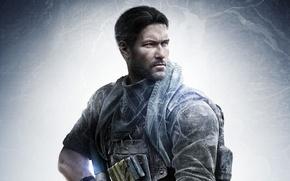Картинка gun, soldier, weapon, man, tatoo, map, assassin, killer, rifle, uniform, Sniper: Ghost Warrior 3, Ghost …