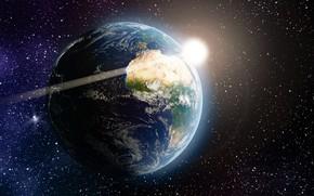 Картинка космос, пространство, земля
