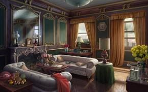 Картинка интерьер, andrew krivulya, The room