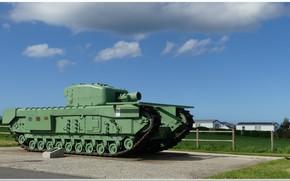 Картинка normandie, ww2 tank, churchill