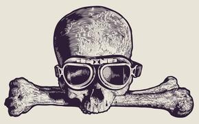 Картинка skull, drawing, Glasses