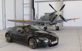 Картинка Aston Martin, ангар, Spitfire