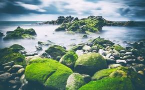 Обои море, камни, берег
