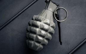 Обои скоба, снаряжение, wallpaper., боке, граната, Mk2, ручная осколочная, оборонительная, оружие, камуфляж, амуниция, наступательная, аэрография, grenade, ...