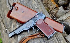 Обои APS, кобура приклад, pistol, gun, АПС, автоматический пистолет, weapon, оружие