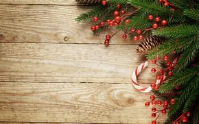 Картинка ягоды, елка, Новый Год, Рождество, happy, Christmas, wood, New Year, Merry Christmas, Xmas, decoration