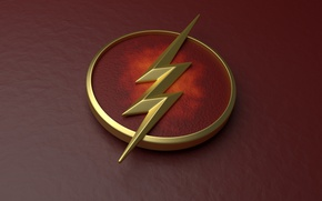 Картинка red, logo, The Flash, Grant Gustin, Barry Allen