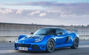 Картинка дорога, синий, Lotus, автомобиль, Exige, Sport
