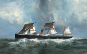 Картинка корабль, Dominik Mayer, Transatlantic - Ships, abyssinia