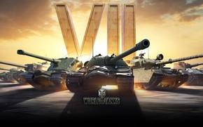 Картинка танки, World of Tanks, WOT, нации, 7 лет, 7 years