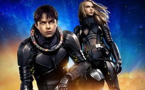 Картинка cinema, girl, movie, face, blonde, film, suit, scar, Cara Delevingne, Dane DeHaan, Valérian and Laureline, ...