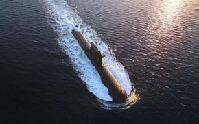 Картинка подводная лодка, надводный ход, hmas waller