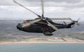 Обои вертолёт, транспортный, Caesar, AW-101, HH-101A