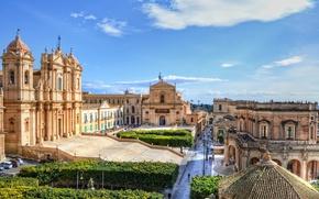 Картинка Италия, Siracusa, Roman Catholic cathedral in Noto in Sicily, Кафедральный собор Святого Николая, Noto, Cathedral …