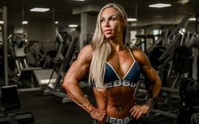 Картинка blonde, pose, fitness, gym