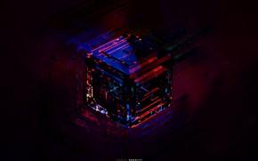Картинка стекло, цвета, оранжевый, синий, желтый, красный, зеленый, серый, голубой, черный, неон, куб, бордовый, оттенки, dijital …