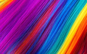Картинка волосы, радуга, colors, colorful, rainbow, texture, hair