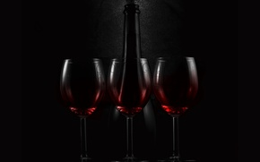 Обои Red, Glass, Black