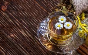 Картинка трава, цветы, чай, ромашка, напиток, Tea, Cup, Drinks, Camomiles