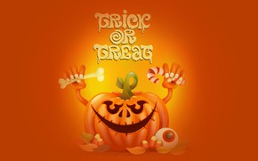 Обои надпись, праздник, хэллоуин, тыква