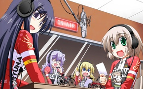 Картинка sport, bike, girls, anime, asian, manga, japanese, oriental, asiatic, headphone, fortuna, Long Riders, Long Riders!