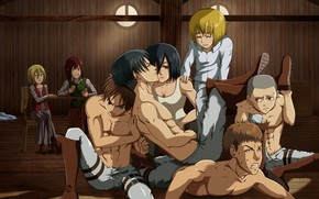 Картинка red, girl, red hair, anime, man, boy, redhead, brunette, blonde, asian, manga, chest, oriental, asiatic, …