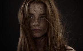 Картинка портрет, красавица, веснушки, рыжая, photographer, Carsten Witte