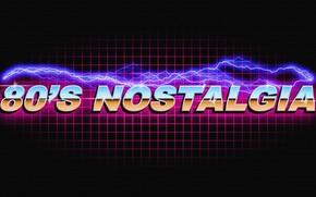 Обои Музыка, Неон, Ретро, Молния, Фон, Electronic, Retro, Synthpop, Darkwave, 80's, Synth, Retrowave, Синти-поп, Синти, Synthwave, ...