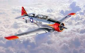 Картинка United States Air Force, Texan, North American Aviation, T-6G, американский лёгкий учебный самолёт